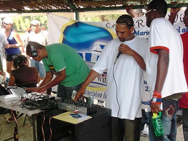 Belizean DJs in Burrell Boom