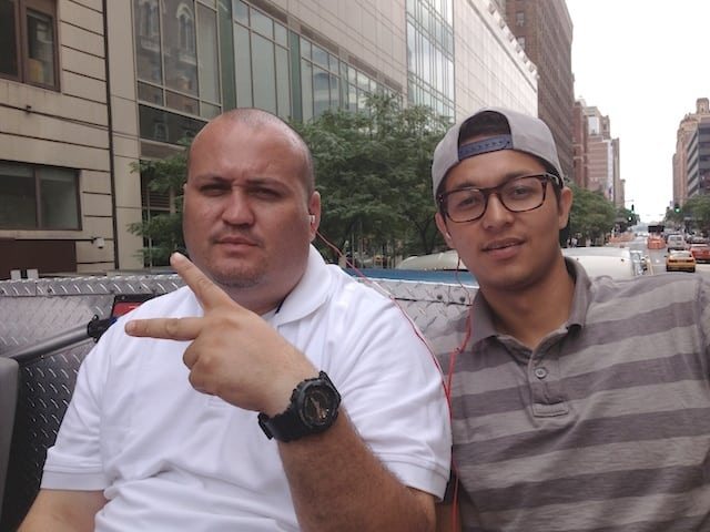 That's me on the right and my buddy Danny on the left in NYC - He owns the transfer vehicles.