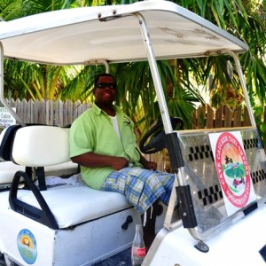 golf cart taxi in belize
