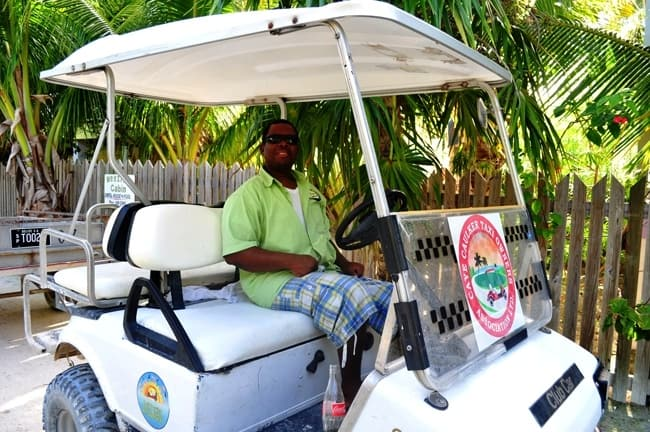golfcart taxi in belize