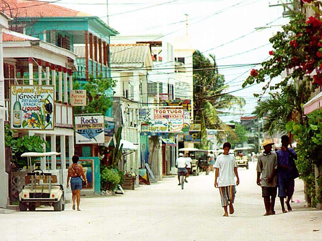 San Pedro Belize old street scene
