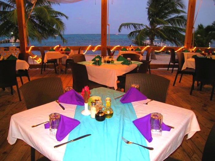 Belize Barrier Reef view from Blue Water Grill