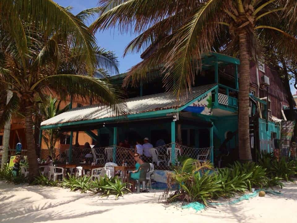 Estels dine by the sea in Ambergris Caye