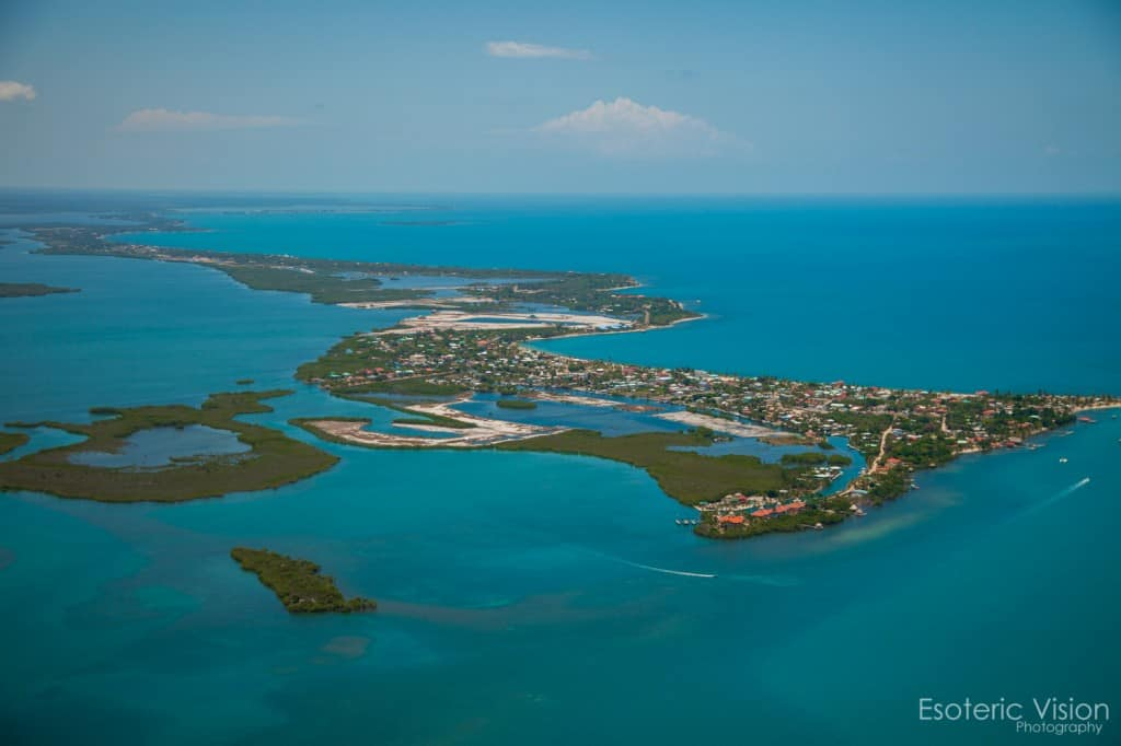 aerial photo of placencia Belize