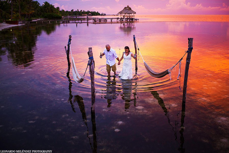 relaxed wedding in Belize