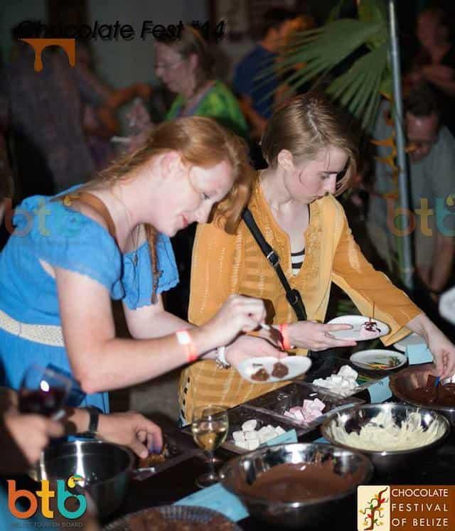 tourist at belize chocolate fest