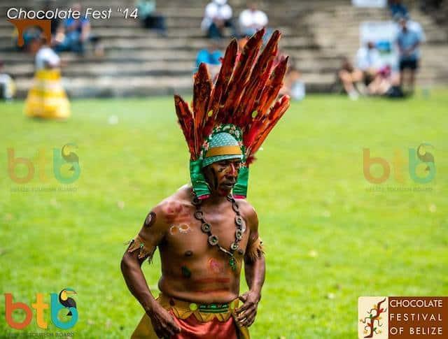 maya dance at the belize festival