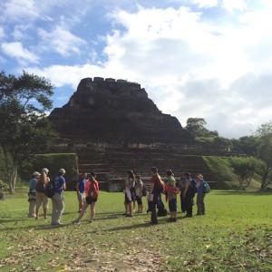 tourists at xunantunich