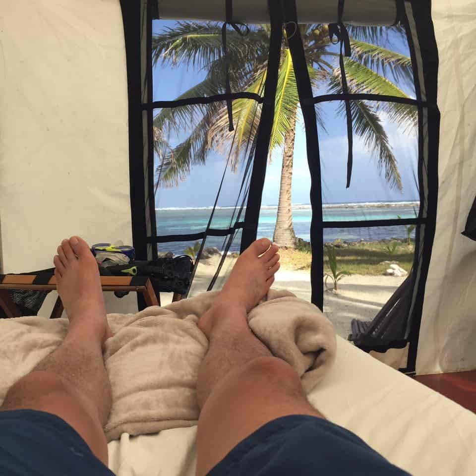 beach camping belize