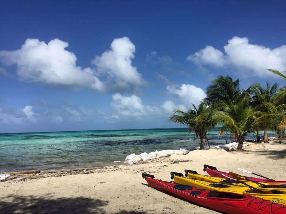 kayaking in belize